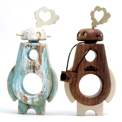 Cris Rose x Pepe Arborobots Wood Bots - &#8220;Turquoise Driftwood&#8221; Ramble & OG Ramble