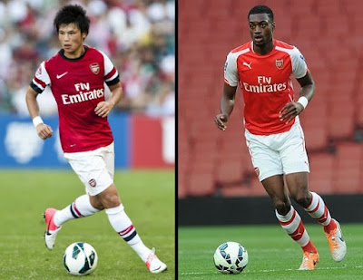 Ryo Miyaichi and Semi Ajayi left Arsenal