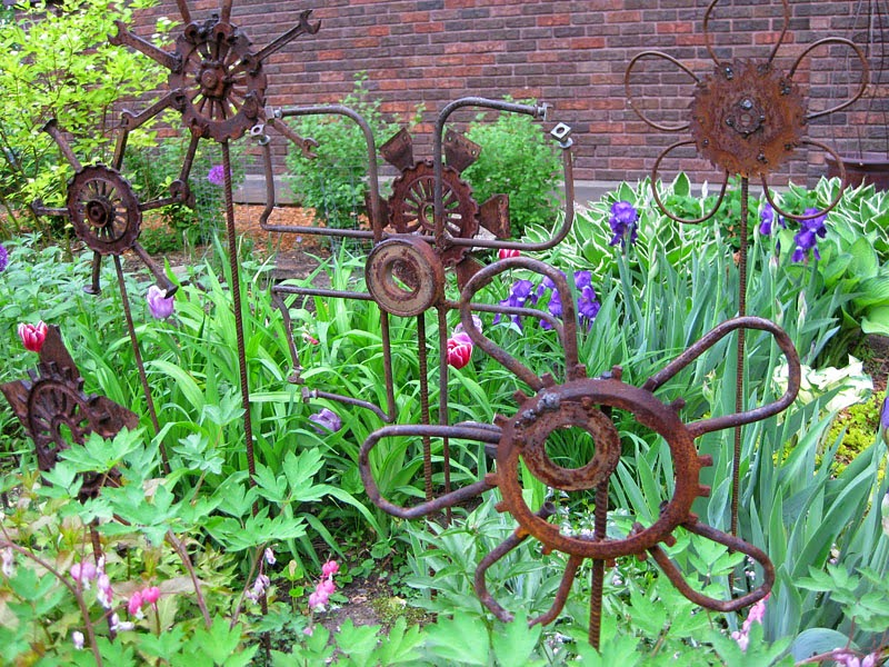 diy garden art made from junk diy craft projects