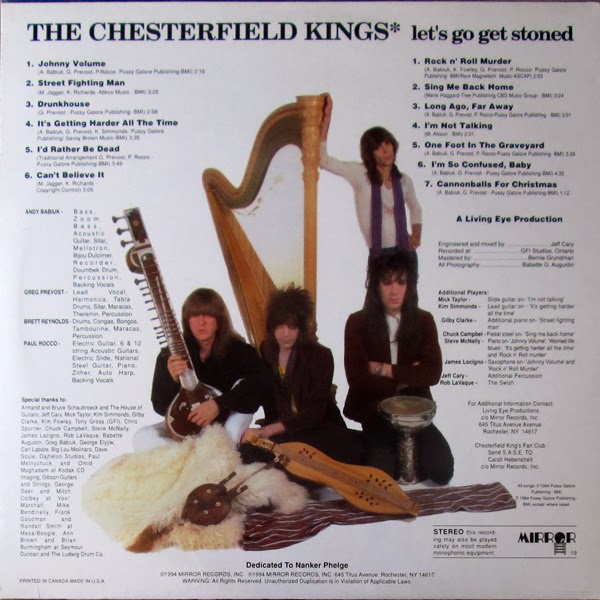 THE CHESTERFIELD KINGS -  (1994) Let's go get stoned 4