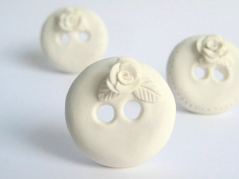 Polymer clay buttons @ Dolly Madison