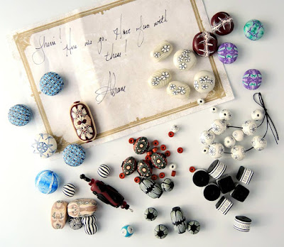 Polymer clay beads by Shane Smith