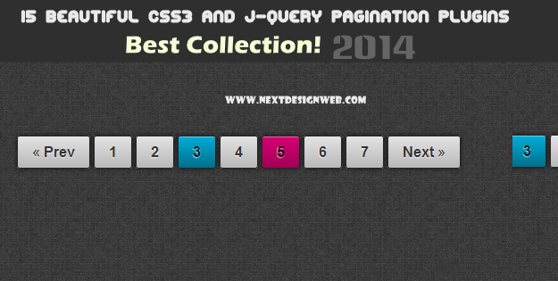 10 Free CSS3 jQuery Pagination Plugins
