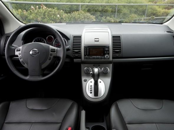 Interior shot of 2011 Nissan Sentra