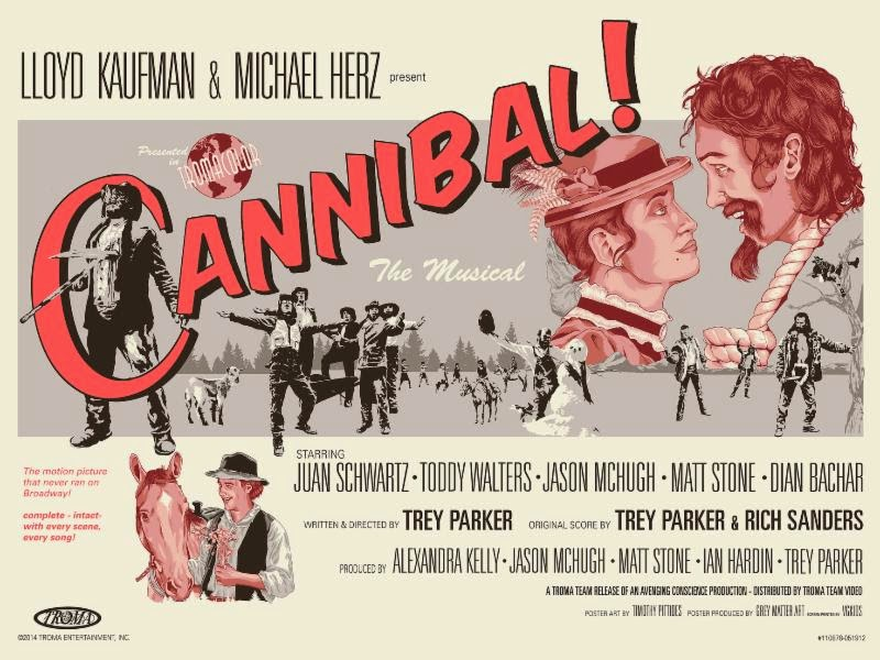 Cannibal! The Musical Screen Print by Timothy Pittides