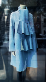 Window shopping and spied this pretty amazing Carolina Herrera blue coat.