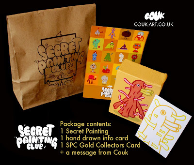 Secret Painting Club Gold Edition Blind Bag Painting Series & Packaging by Couk