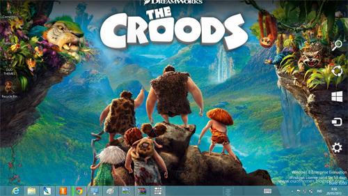 The Croods Windows 8 Theme