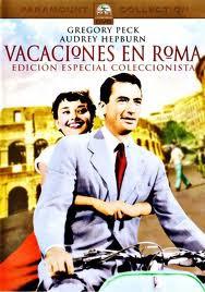 Cartel de la película Vacaciones en Roma, con Audrey Hepburn y Gregory Peck