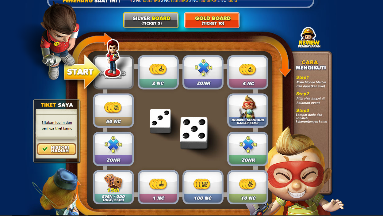 Modoo Marble - Event Lucky Ticket Play and Win 2