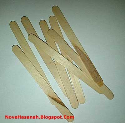 stik es krim dari kayu  untuk kerajinan tangan