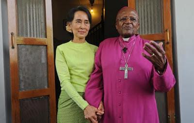 Desmond Tutu et Aung San Suu Kyi