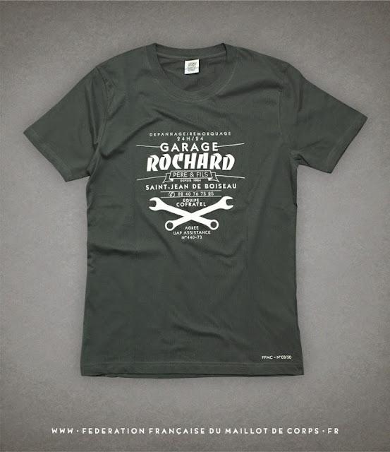 ©Federation Francaise du Maillot de Corps t-shirt GARAGE ROCHARD #2