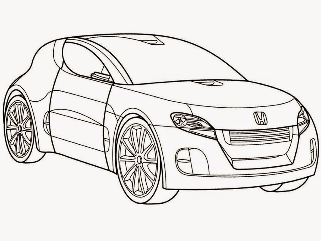 Realistic Car Coloring Pages : Free honda car coloring pages realistic