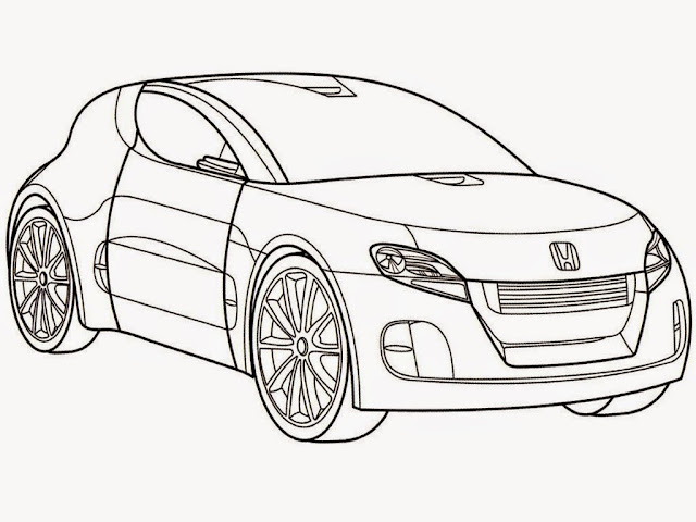 Free Honda Car Coloring Pages