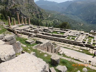 Temple of Apollo in Temple of Delphi