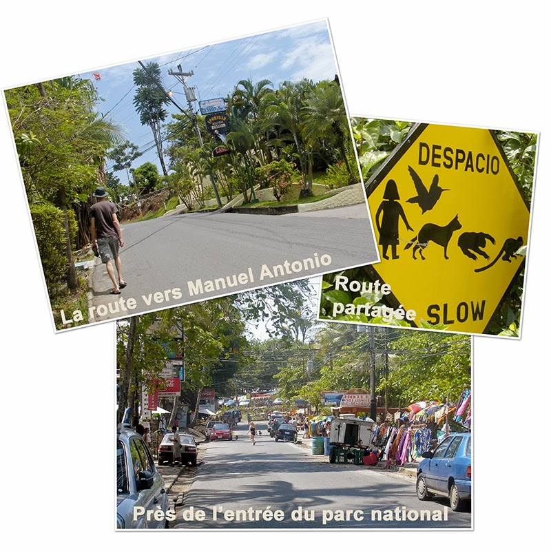 La route entre Quepos et le parc national Manuel Antonio