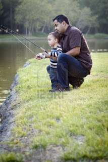peran ayah, anak dan ayah memancing