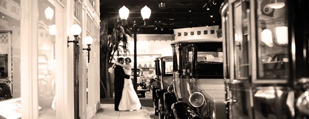 wedding shot at fake street