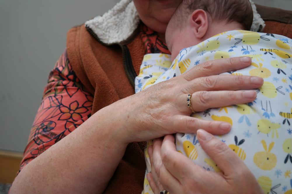 Granny holding Matilda