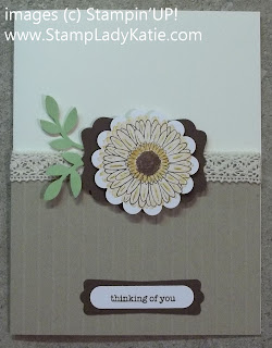 Card Made with Stampin'UP! Punches and Simply Scored tool.