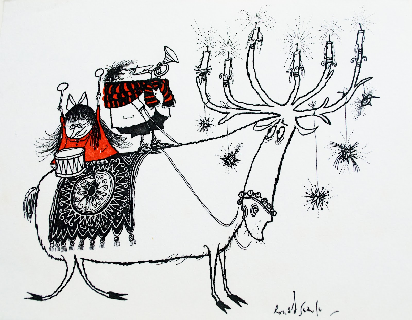 ronald searle tribute  merry christmas from ronald searle