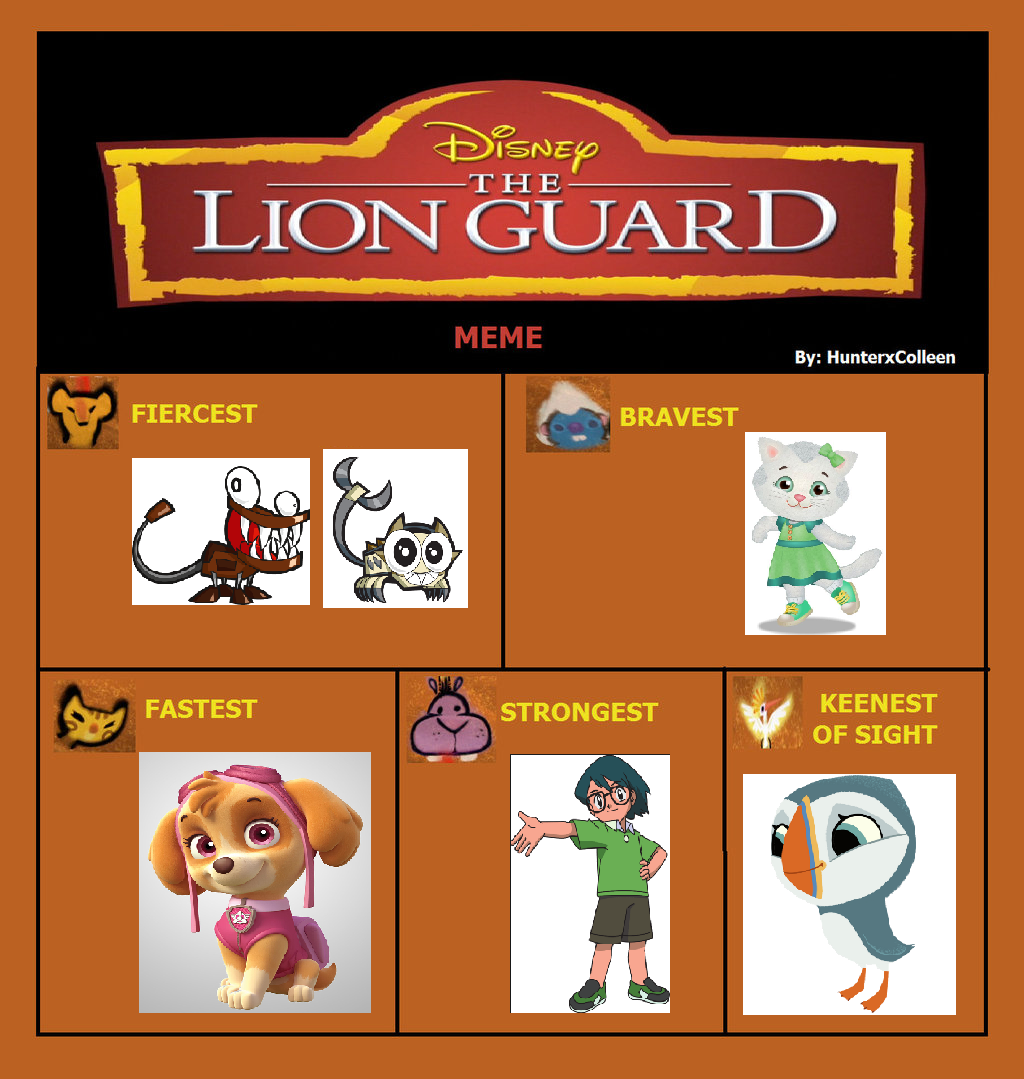 Isabelle s blog world of toy the lion guard meme my version 1 2