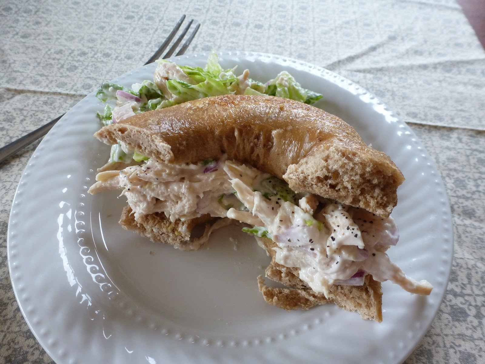 how to make low fat chicken salad