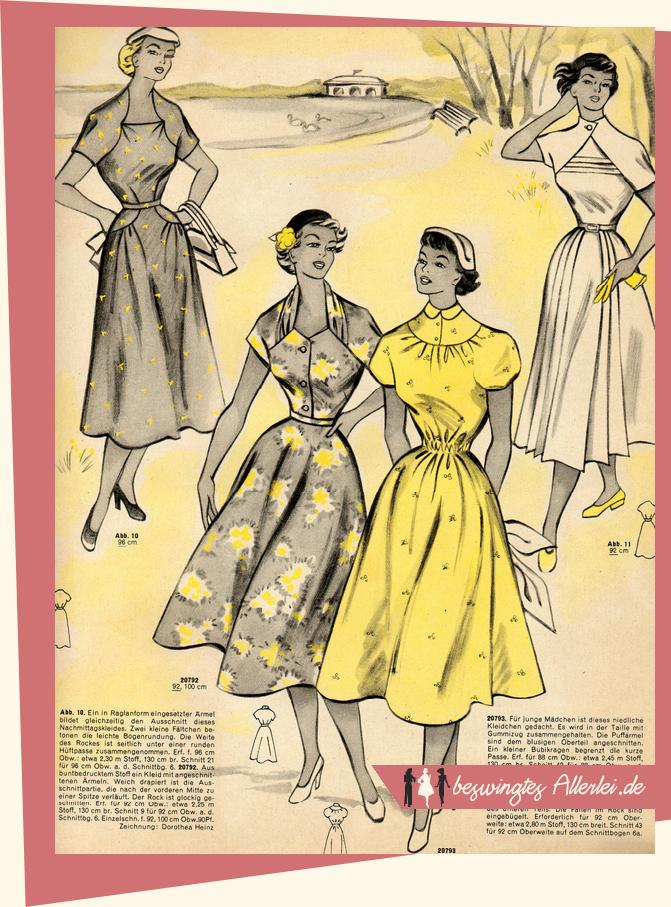 Sommer in der Mode 1954