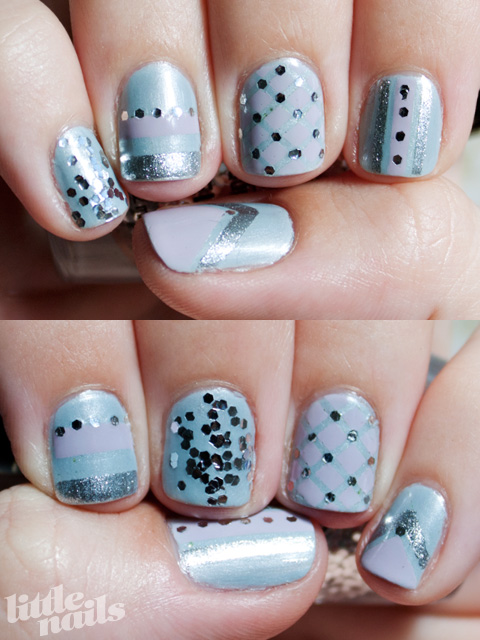 Another Easter Egg Mani - little nails