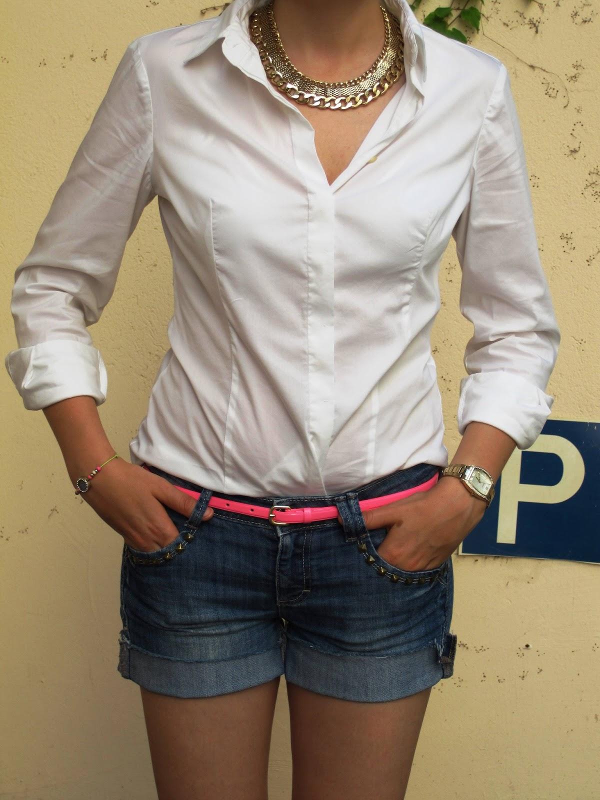 White shirt Benetton