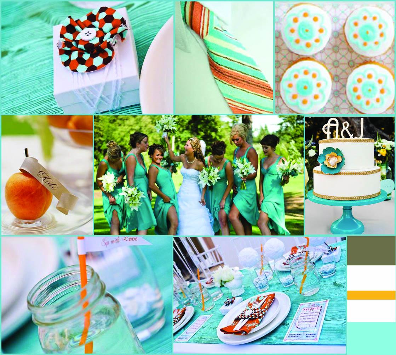 Green Loft Designs: Summer Wedding: Blue/Teal and Orange