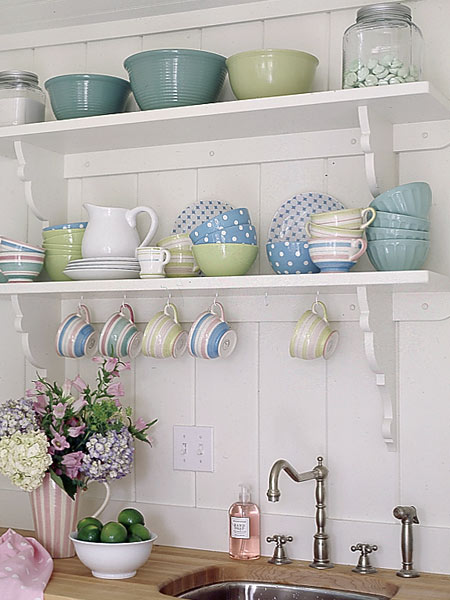Cottage Kitchen Shelves