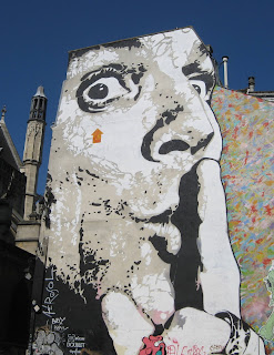 Graffiti or art - near the Pompidou Centre in Paris