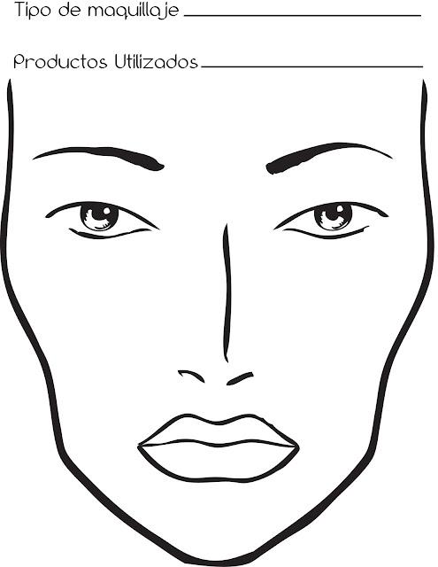 Face chart, facechart, maquillaje en papel, maquillar los facechart, bocetos de maquillaje, qué tipo de papel utilizo para los facechart, tipo de papel, facechart hecho, facechart vacio