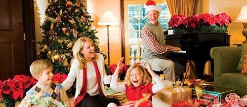 familia feliz en navidad
