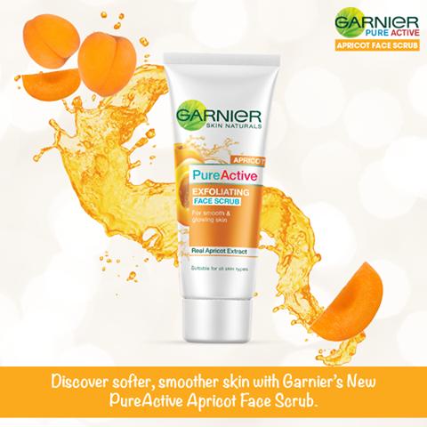 Garnier Pure Active Exfoliating Apricot Face Scrub