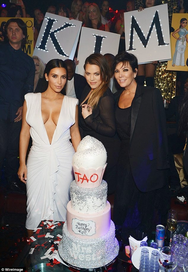 """Check Out Kim Kardashian's """"Booty-ful"""" 34th Birthday Photos. About Kanye And North, She Says………."""