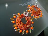 Swarovski Neon - Wire Crochet Earrings