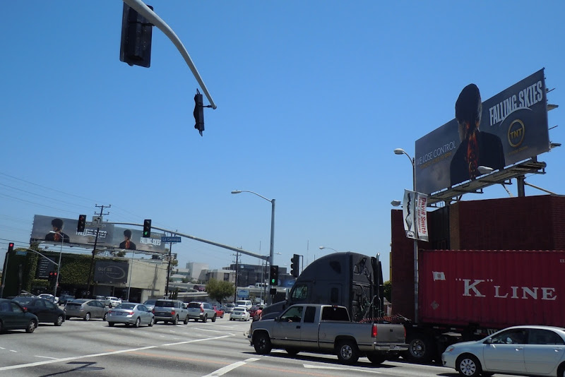 Falling Skies billboards Venice and La Cienega