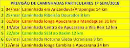 caminhadas municipais APUCARANA-PR