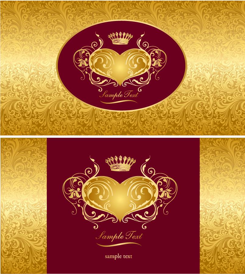 洗練された黄金の王冠の背景 exquisite european style crown background イラスト素材
