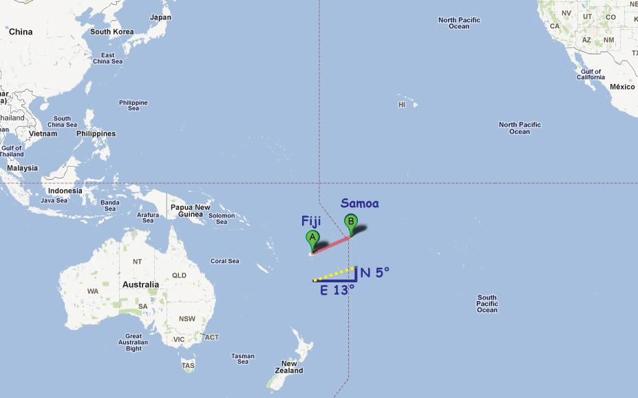 Excel Math 10911 101611 – Samoa on World Map