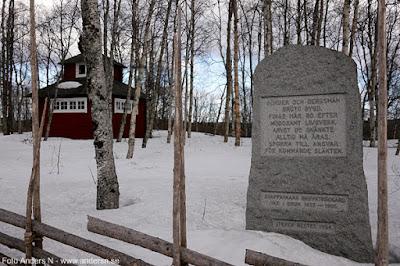 Svappavaara, gruvkyrkogård, kyrkogård, minnessten