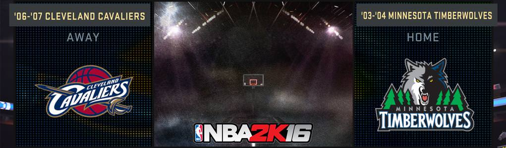 NBA 2k16 : 2003 Wolves and 2006 Cavaliers Added in NBA 2k16