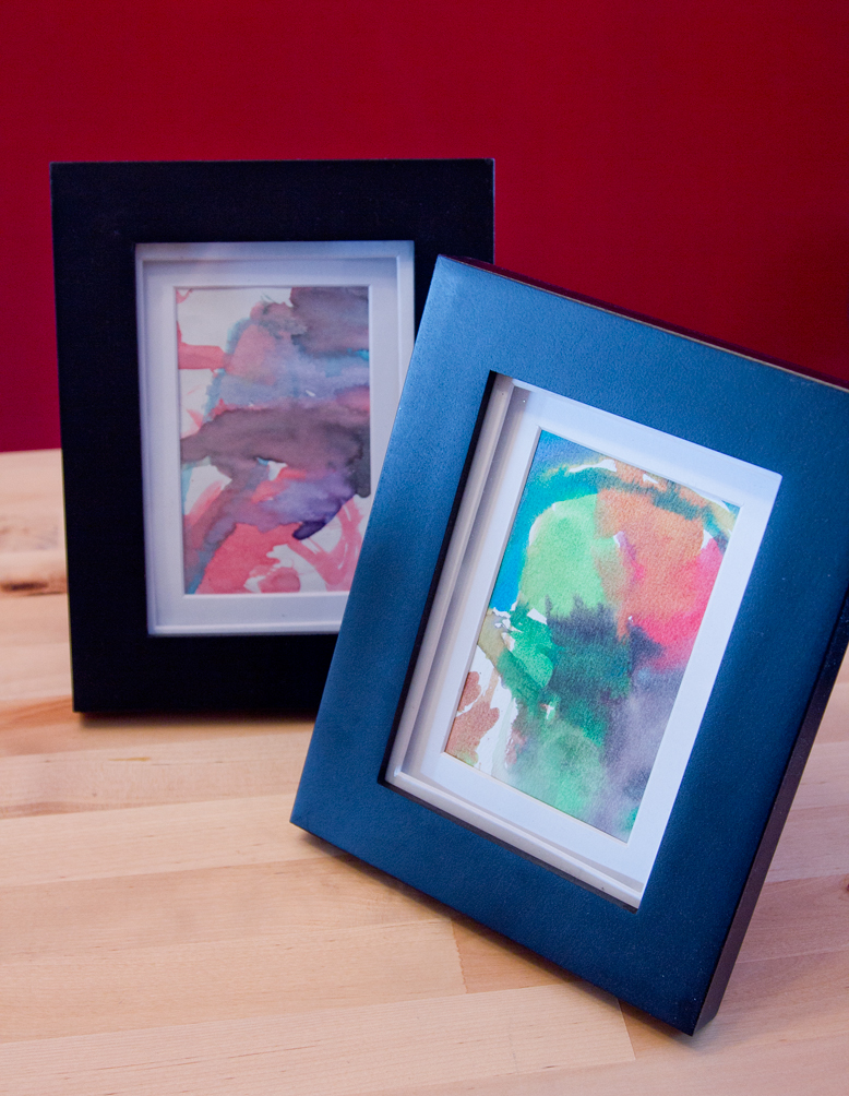 Diy lady hacks frame your childs art heres a fun and arty way to make your childs paintings or drawings look like an art collection all you need is a kid to make you some art in my case solutioingenieria Gallery