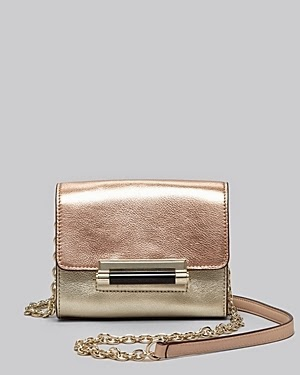 Diane von Furstenberg Micro Mini Metallic Crossbody