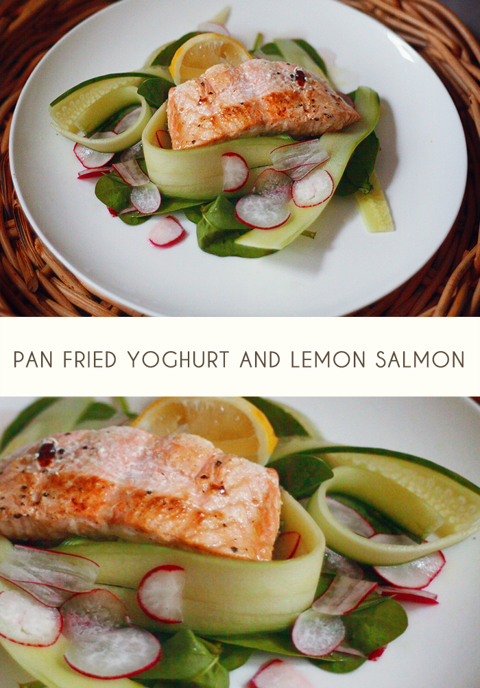 Yoghurt and Lemon Salmon