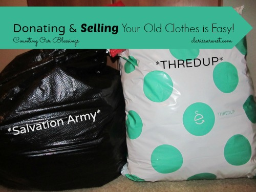 organizing clothes, thredup
