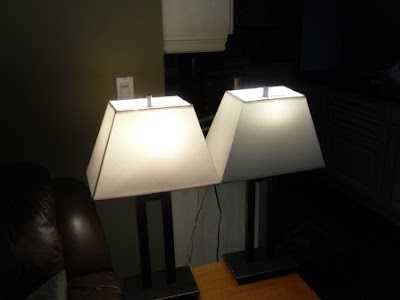 Side by Side Comparison of Light Emission Performance of Philips LED (left) and CFL (right) Products